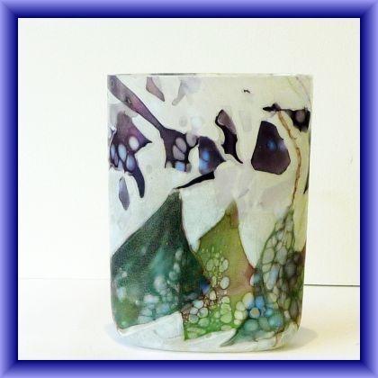 Pretty Flower garden oval vase, 16.5 h x 12.5