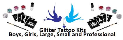 glitter tattoo kits and stencils