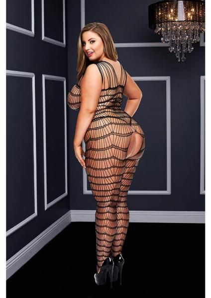 Plus Size Fish Net Crotchless Lingerie