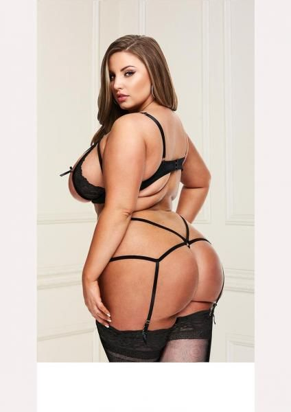 Plus Size Strappy Lingerie