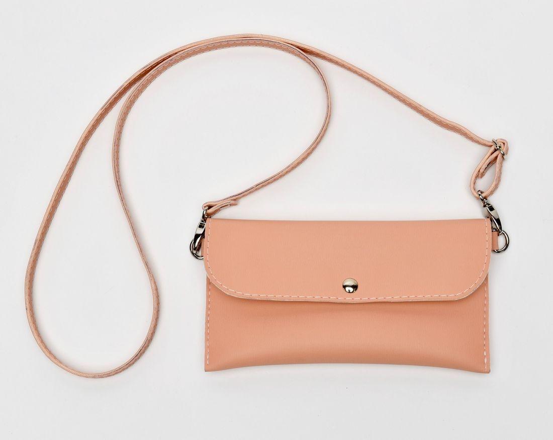pink crossbody bag, leather handbag, iPhone 7 case, small pinkurse