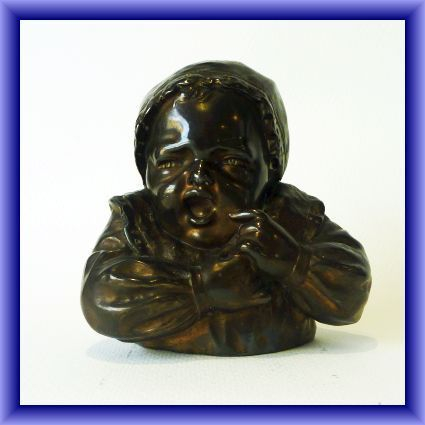 unusual bronze of a baby