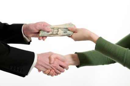 Customer Receiving Cash In Hand For a Pawn Loan