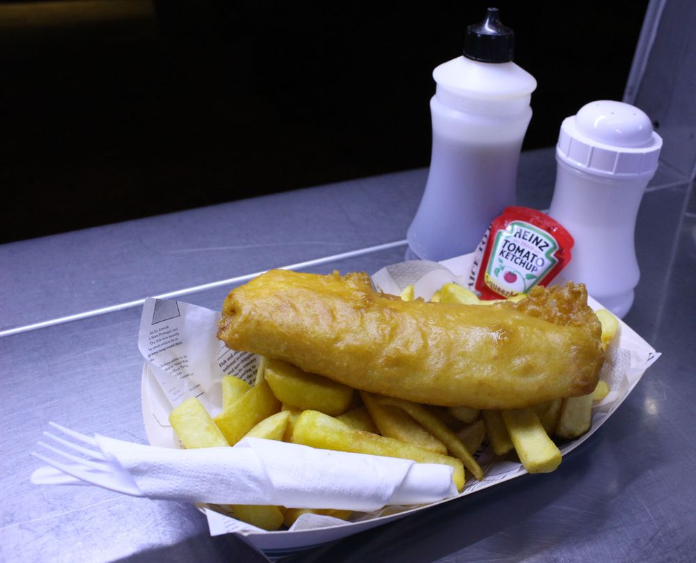 Wedding breakfast fish and chips
