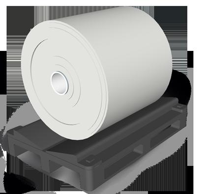 Rollenpalette Druckindustrie Kunststoffpalette