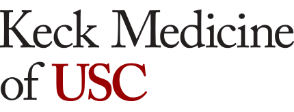 Logo with words Keck Medicine of USC