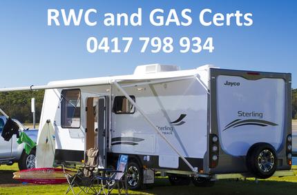 RWC and GAS Caravan Safety Certificate Bribie Island