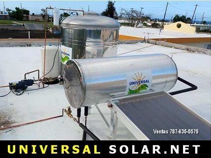 Combo calentador solar y cisterna
