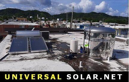 Tanque de agua y calentador solar