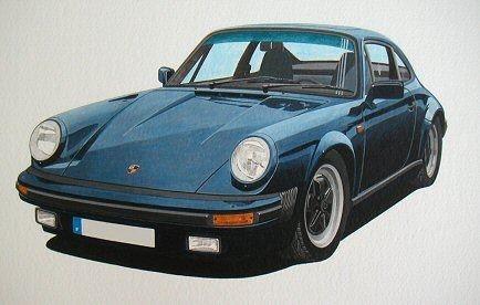 Porsche 911  (Acrylic) : Commission (France)