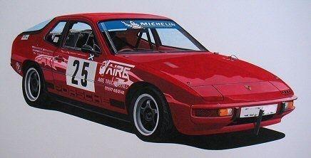 Porsche 924  (Acrylic) : Commission (UK)
