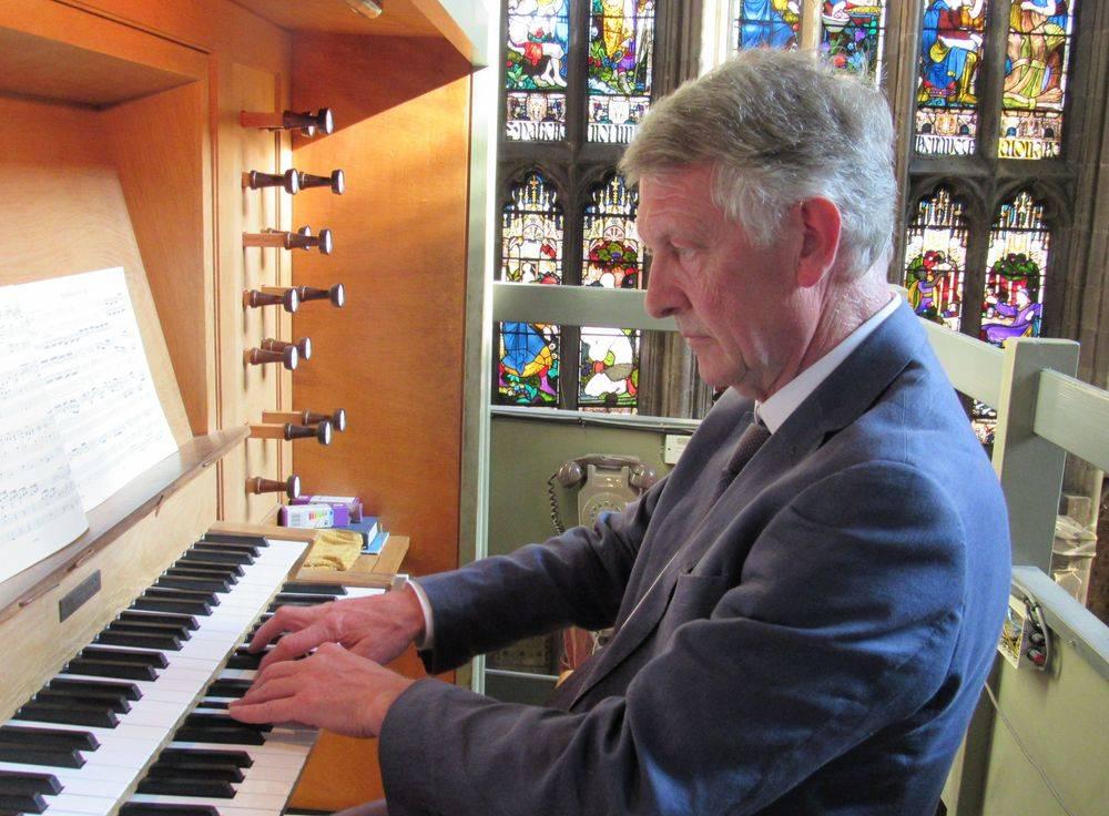 John Keys at the organ