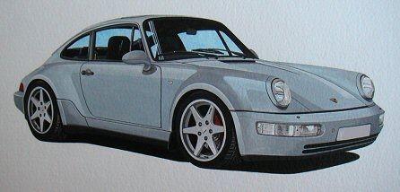 Porsche 964 Celebration  (Acrylic) : Commission (UK)