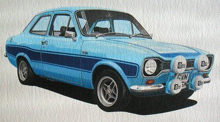 Ford Escort RS 2000 (Acrylic) : Commission (UK)