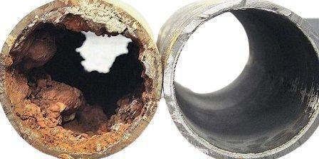Tubo tapado minerales - Suavizador de agua