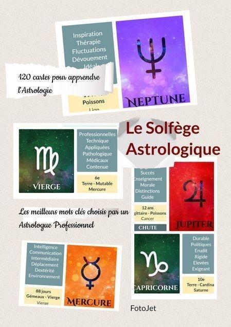 Les 120 cartes astrologiques du Solfège