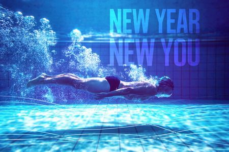 Swimmer on New Years