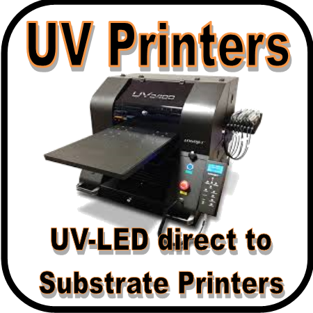LogoJET's UV2400 is our most versatile printer release yet! This new technology utilizes UV curable inks and a built-in UV-LED lamp to produce vibrant full color and textured imprints that cure rock-solid on a huge variety of substrates, including dark and clear materials! ys, etc.! Handles on all 4 sides make the printer easily movable for 2 people. The front drawer on the printer is for storage of spare parts and maintenance supplies, which will come loaded with everything you need to maintain the printer. Ink basket is magnetic and removable. Fits inside side panel of machine for storage. The remote control puts all functions at your finger-tips including: manual flatbed height adjust, auto-height adjust; move bed backward and forward; perform head-cleanings. Printer firmware updates can also be done from the remote control. Easy access drop-down panels allow you to perform maintenance and/or repair parts without disassembling printer to get inside. Flatbed is open at the back and front, allowing oversized products to be loaded, and products can be accessed during print runs for loading and unloading.