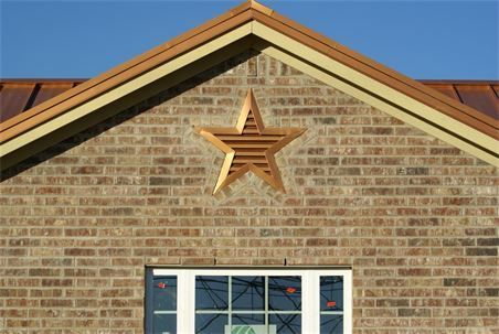 Copper Metallic  Star gable vent