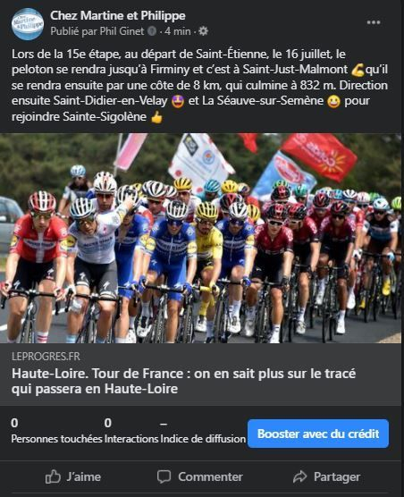 Etape Tour de France 2022 Haute-Loire Saint-Didier en Velay Saint-Etienne Mende Auvergne Vélo