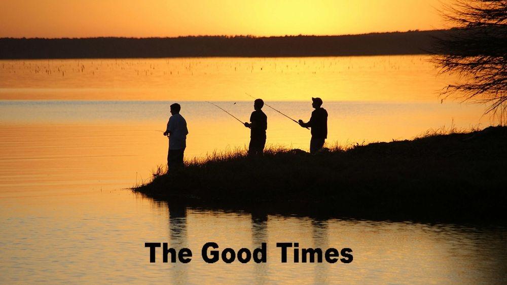 Fishing, sunset, bank fishing, scenic, red river, calm