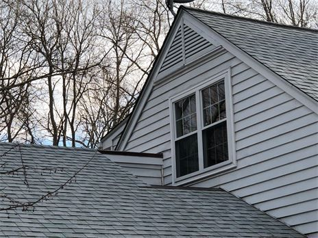 Installed Two piece triangle gable louver vents
