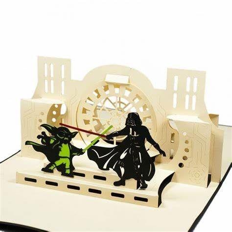 Star Wars YODA fighting Darth Vader