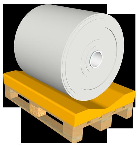 Palettenauflagen für EURO- und INDUSTRIE-Paletten, Basispaletten mit Kufen und Füßen, Rollenpaletten