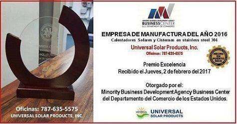 Universal Solar Premio fabricante 2016