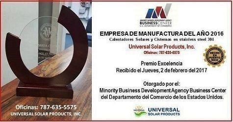 Premio manufactura Universal Solar