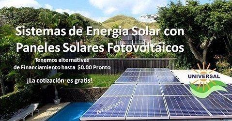 Sistema solar de energia - Puerto Rico