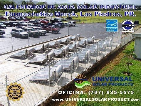 Calentador solar para industrias y hospitales