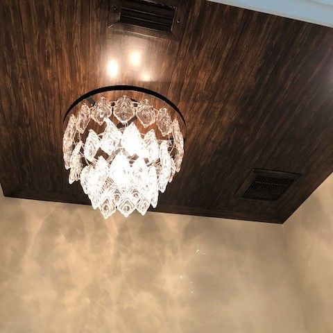 Painted ceiling wood look