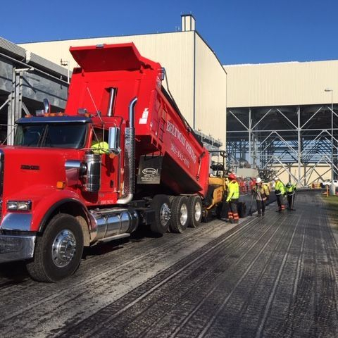 paving crew hard at work at Keys Energy Plant