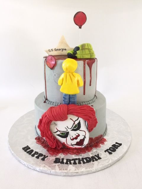 Pennywise It Cake  Scary Birthday Cake