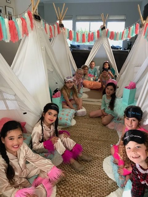 Teepee rentals, kids party rentals, teepee sleepover, sleepover party, kids birthday parties, kids birthday party, party planner, kids party planner, Newport Beach, Orange County