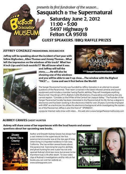 bigfoot museum book signing haunted santa cruz