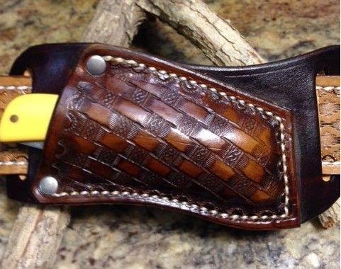 sod buster sheath , basket weave , cross draws  , leather , sheath , sod buster junior , custom sheaths