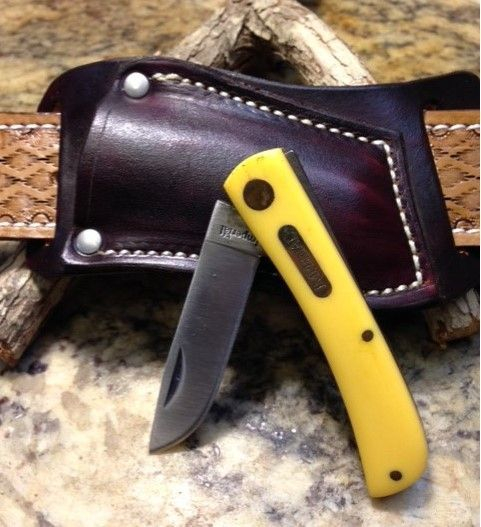 sod buster knife yellow