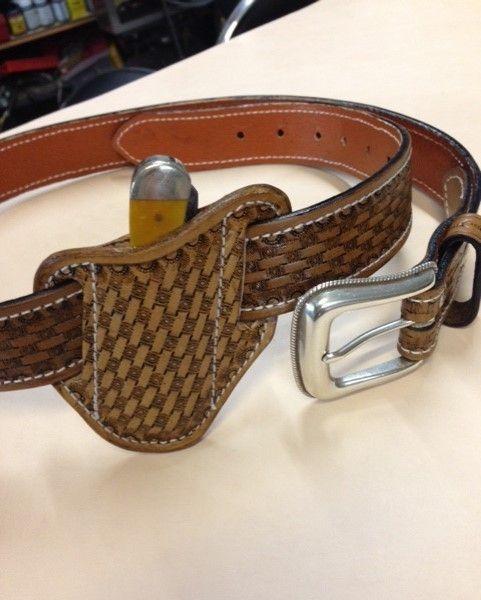 Basket Weave ,  tooled , belt ,