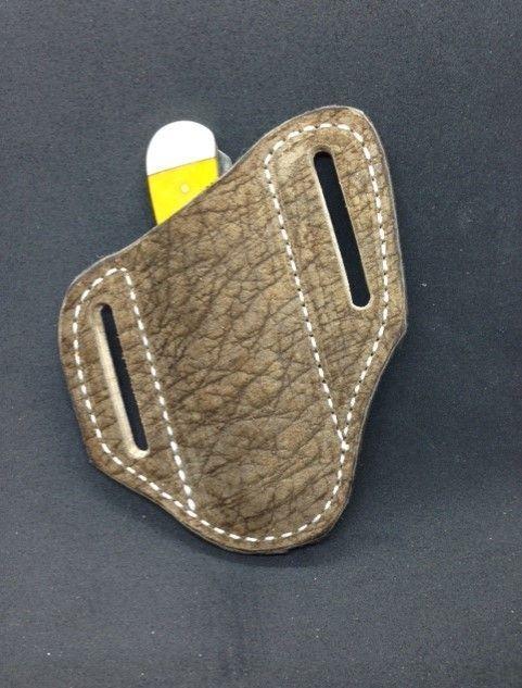 Hippo leather , trapper sheath , case knife sheath , hippo leather sheath