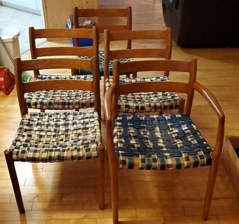 Strapped Moller Chairs