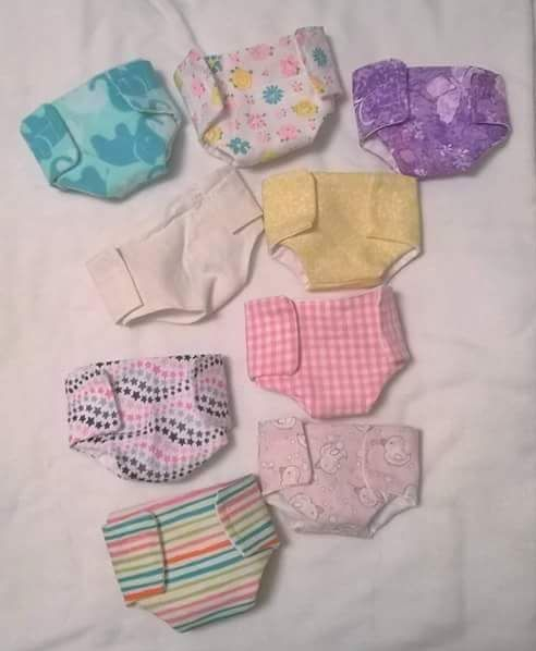 Doll Diapers, Itty Baby Diapers, Baby Alive Diapers, Tiny Tears Diapers