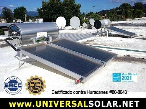 Calentadores de agua solar