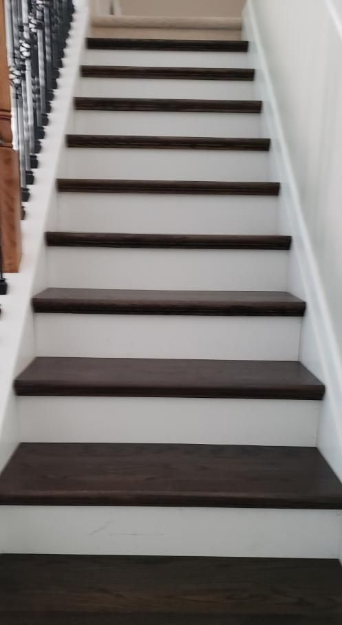 wood floors solid wood stair treads replace carpet with wood