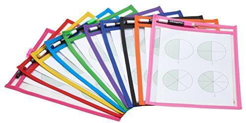 teacher supplies, teacher station pockets, colorful pockets for centers