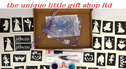 princess glitter tattoo kits and stencils