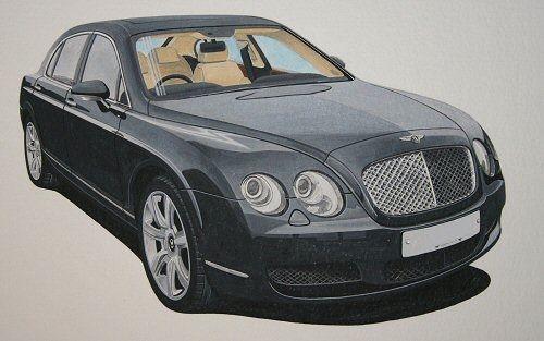 Bentley Flying Spur  (Acrylic) : Commission (UK)