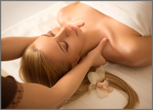 Neck and shoulder massage for pain relief and relaxation