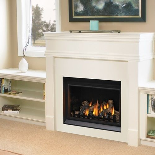 gas fireplace clean and maintained in home